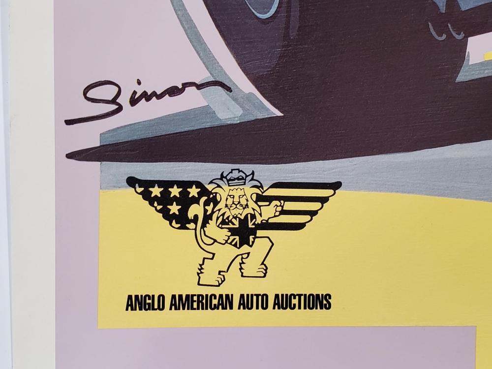 1989 Detroit Rick Cole Signed Poster