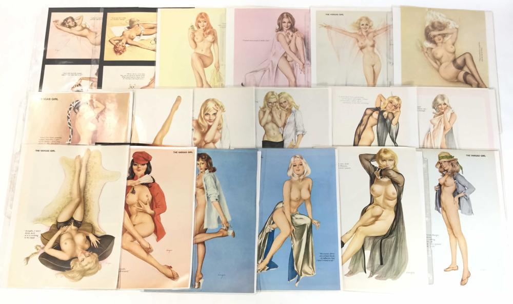 (36) Vintage Playboy Vargar Pin Up Centerfolds