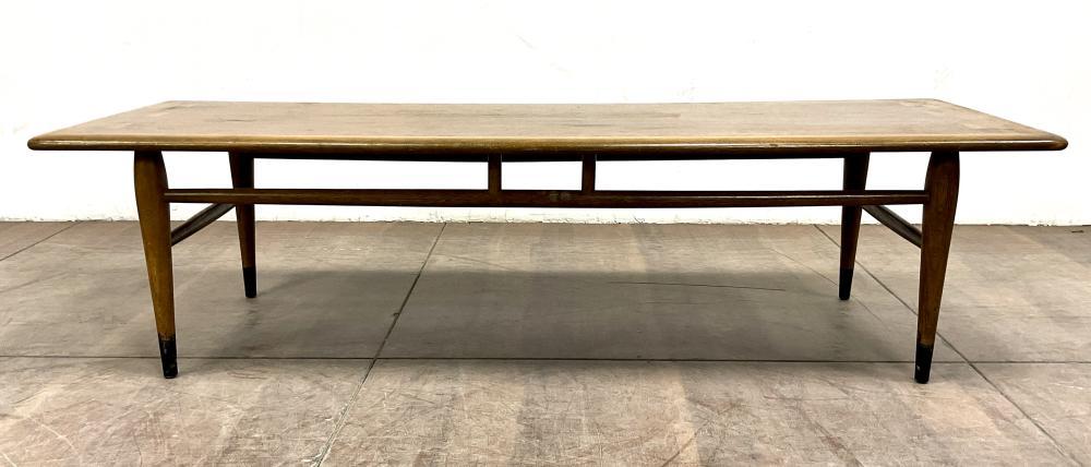 Lane Mid Century Modern Walnut Wood Coffee Table