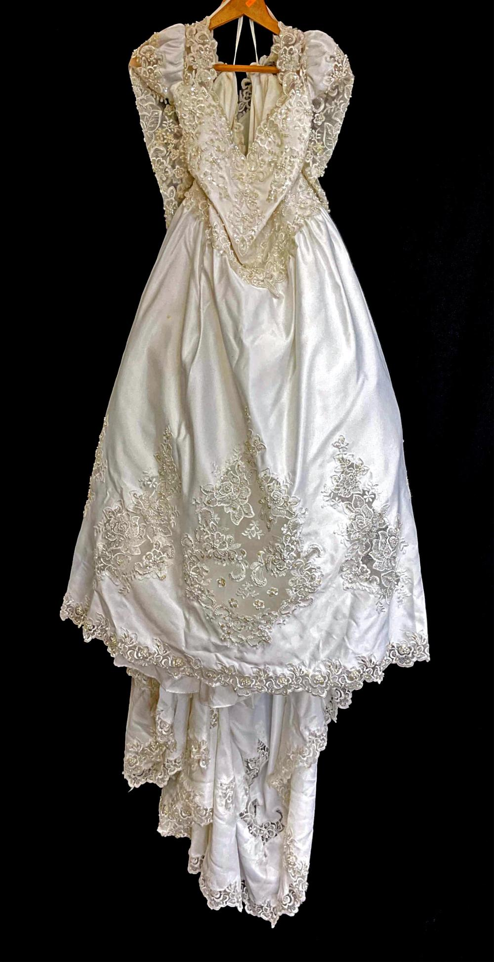 Traditional Beaded Polyester Wedding Dress
