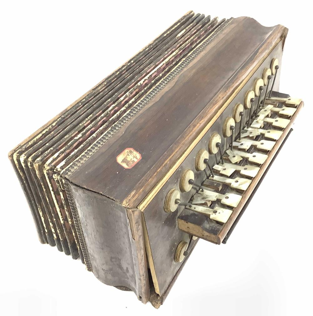 Antique Constant Busson Accordion, Mother Of