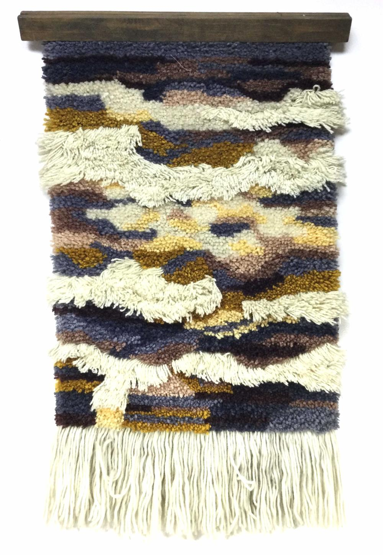c.1970's Shag Wall Tapestry