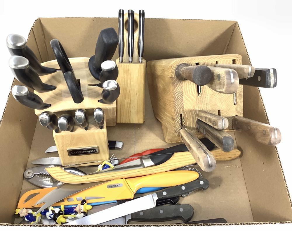 Assorted Knives / Blocks, Cuisinart