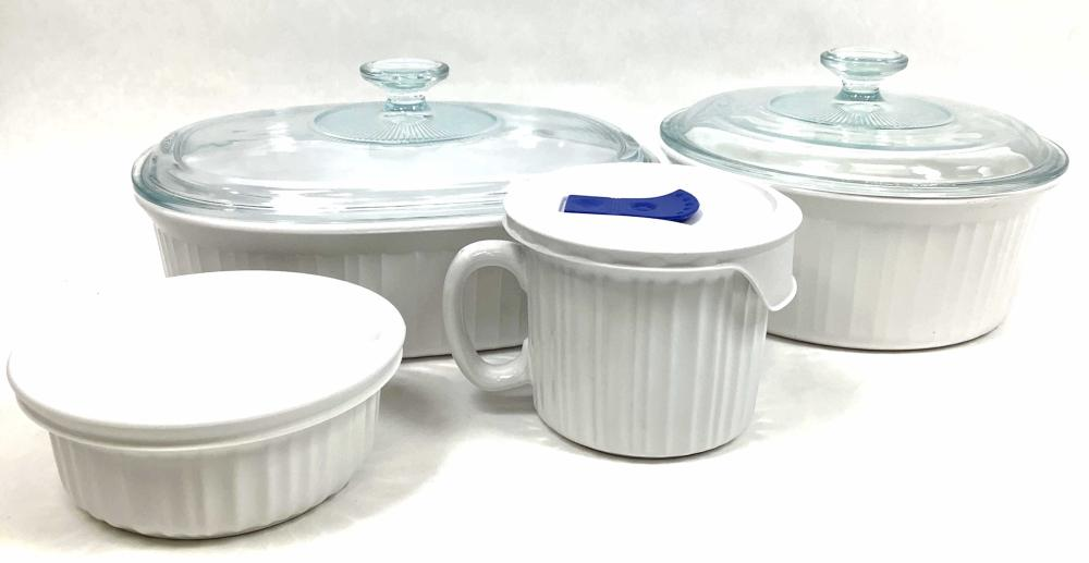 Assorted Corningware Pans, Bowls & Dishes