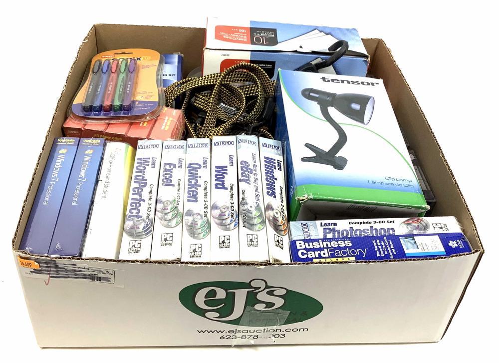 Assorted Office Software & Supplies