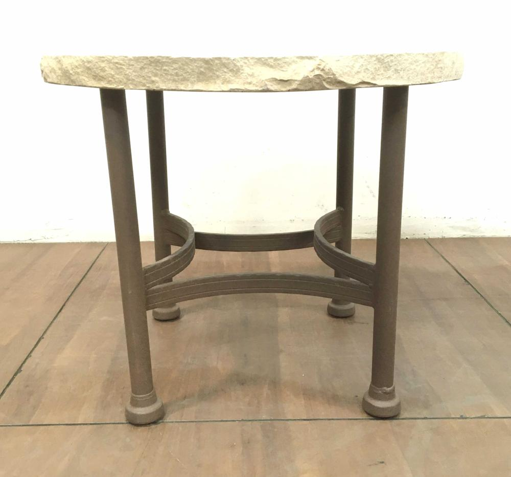 Rustic Southwester Style Iron & Sandstone Table