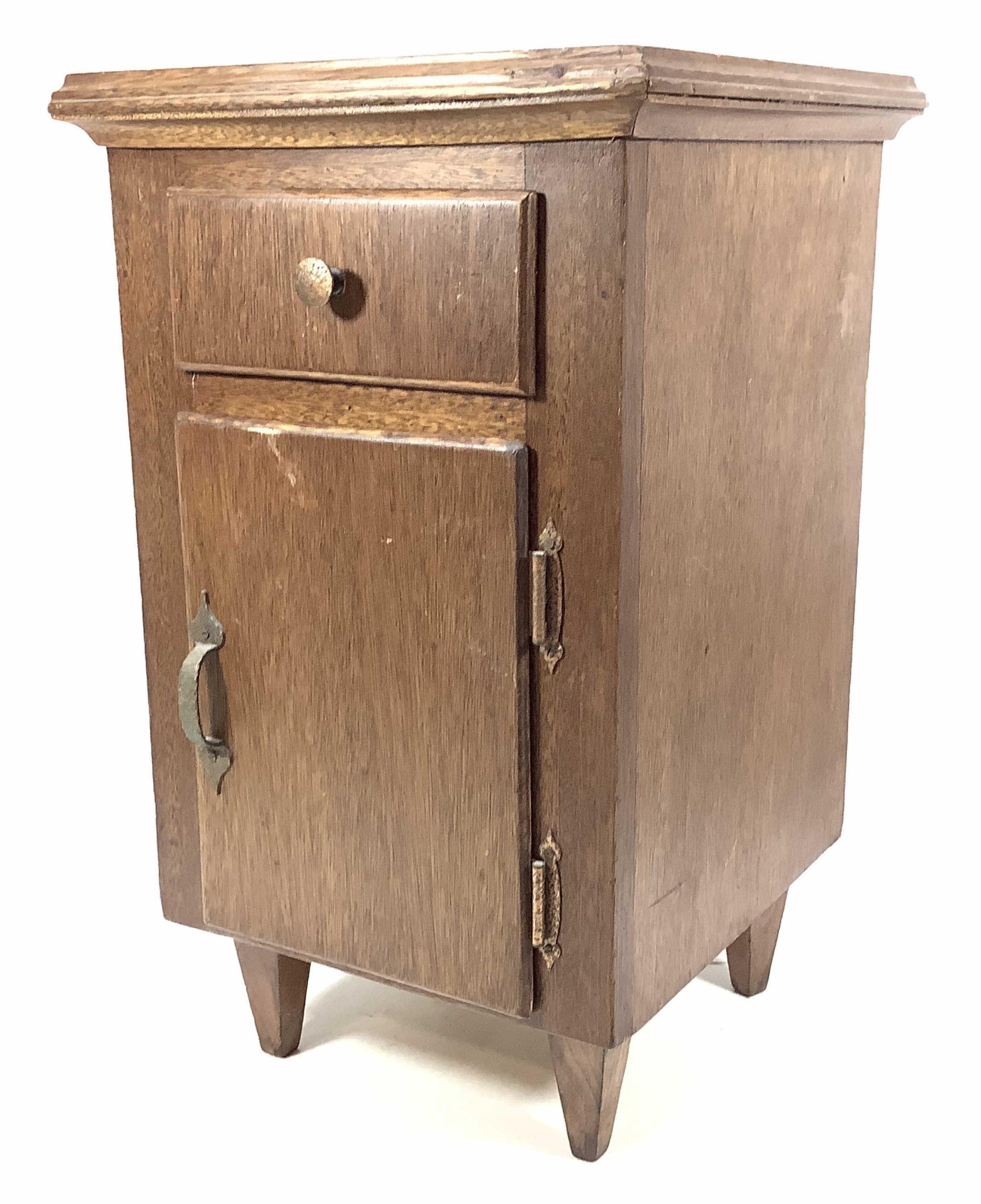 Freestanding Dark Fruitwood Nightstand Side Cabinet