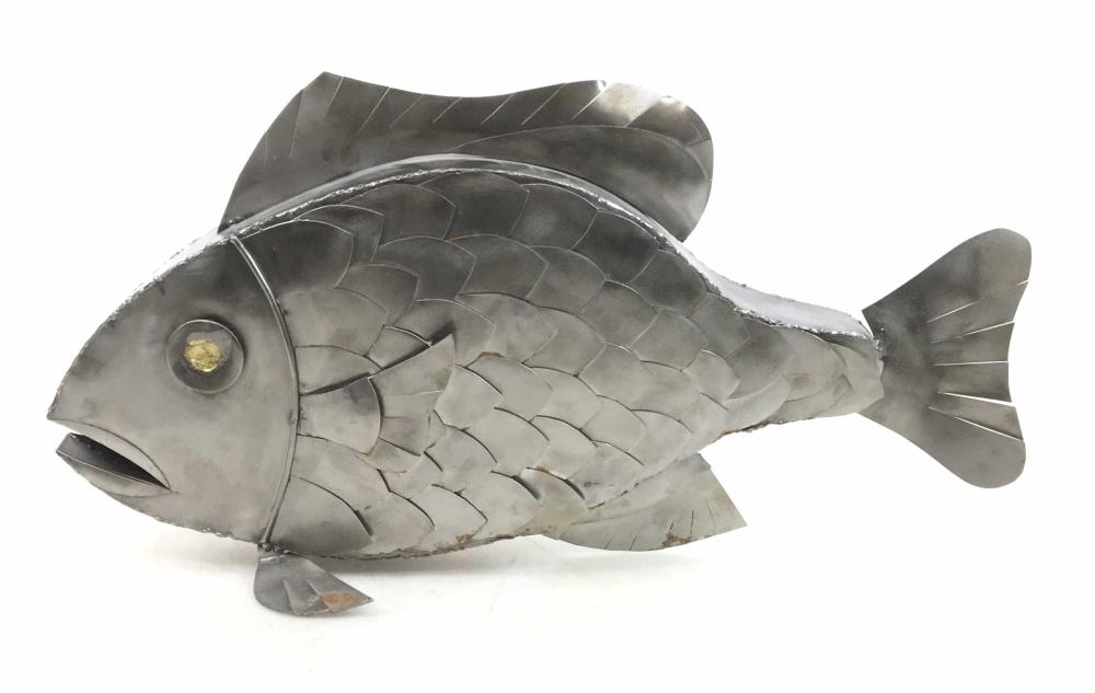 Large Decorative Mexican Tin Fish