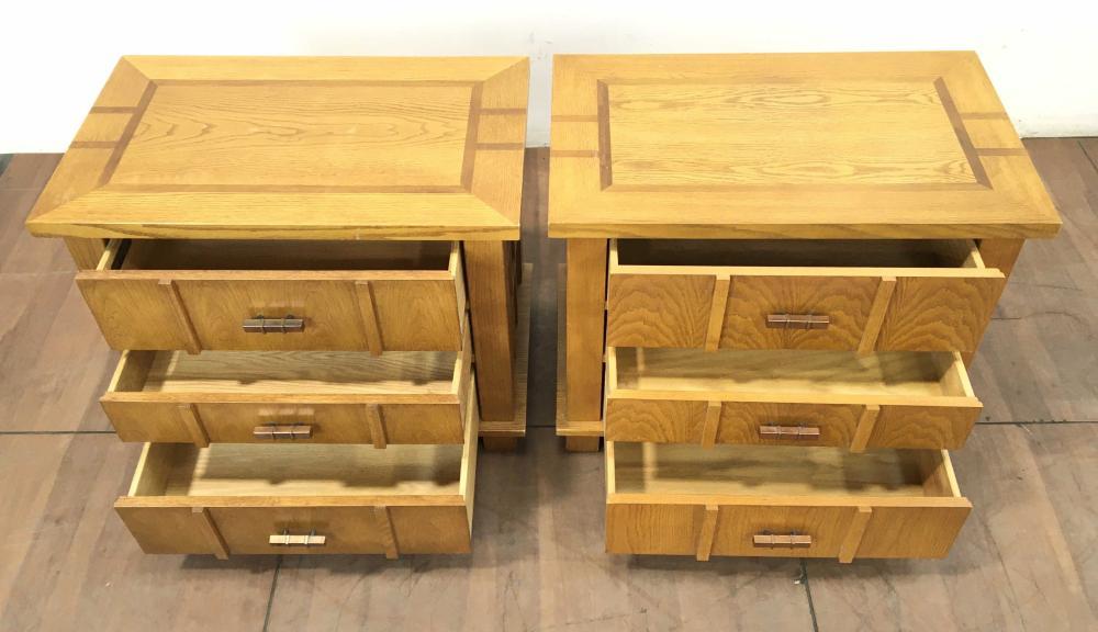 Pair Robert Sonneman for Stanley Furniture Contemporary Nightstands