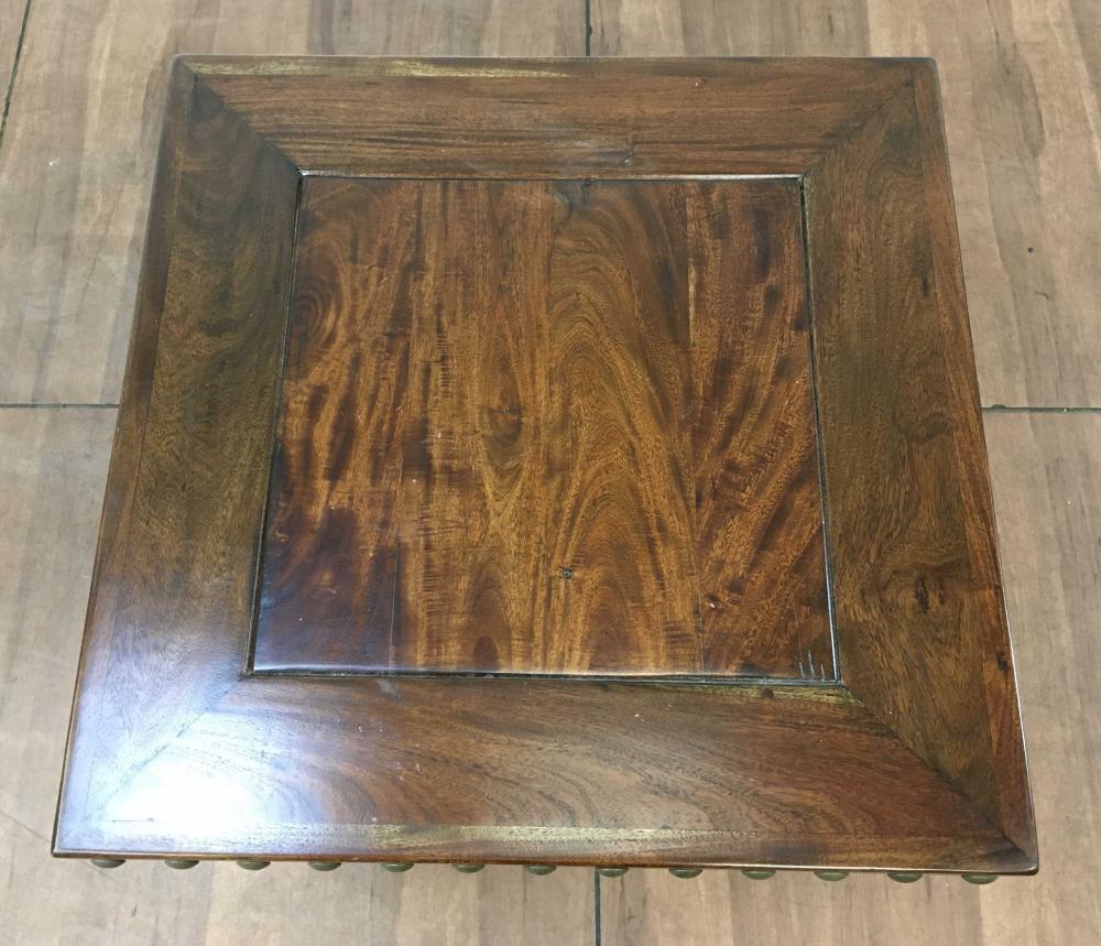 Rustic Walnut Nailhead End Table