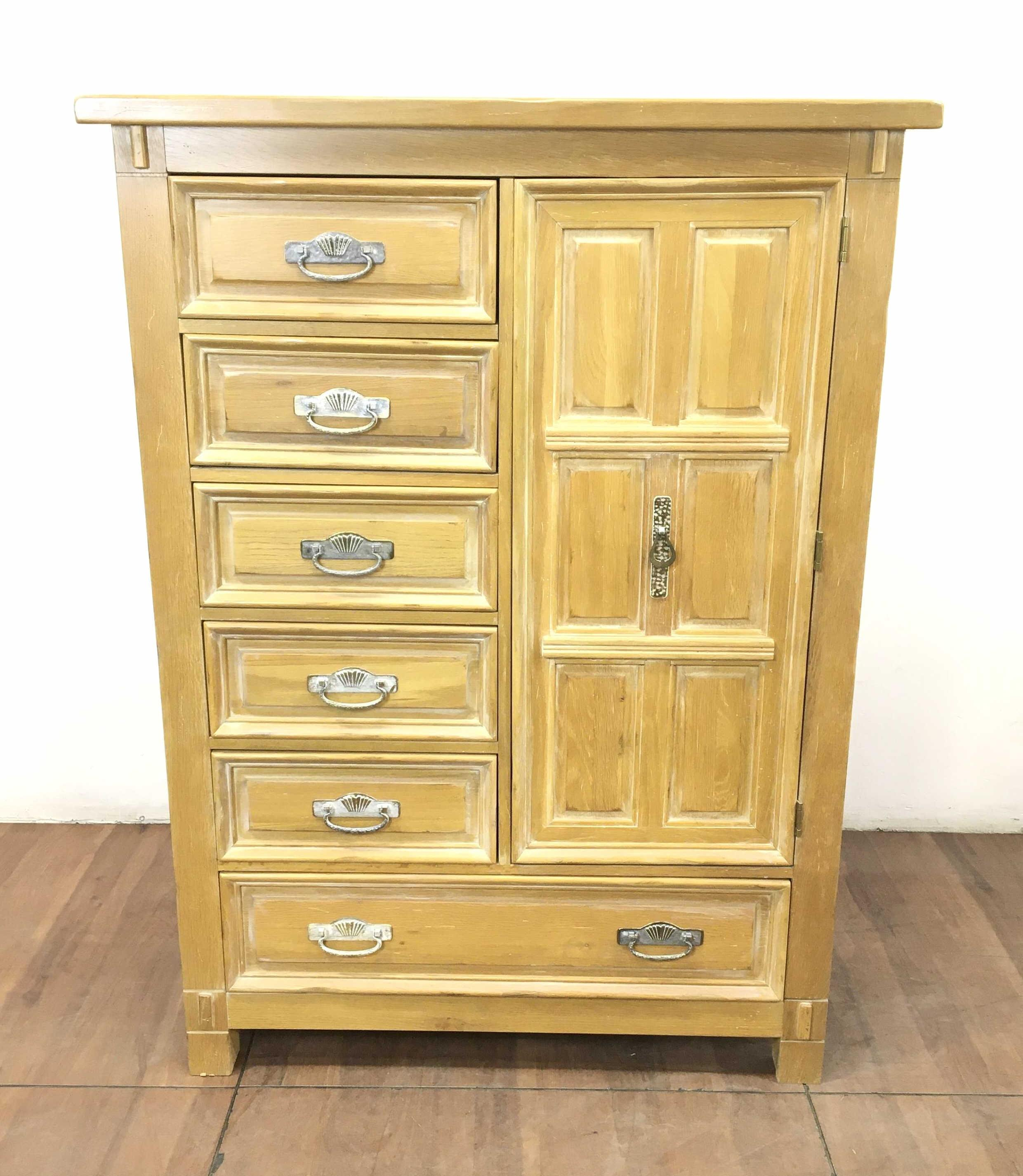 Lexington Link Taylor Taos Collection Oak High Boy Cabinet