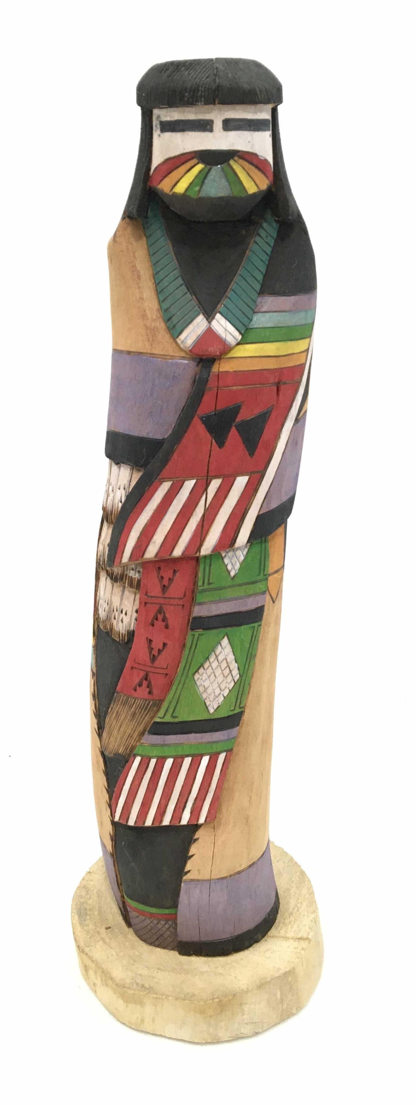 Signed 19in Native American Shalako Hopi Kachina