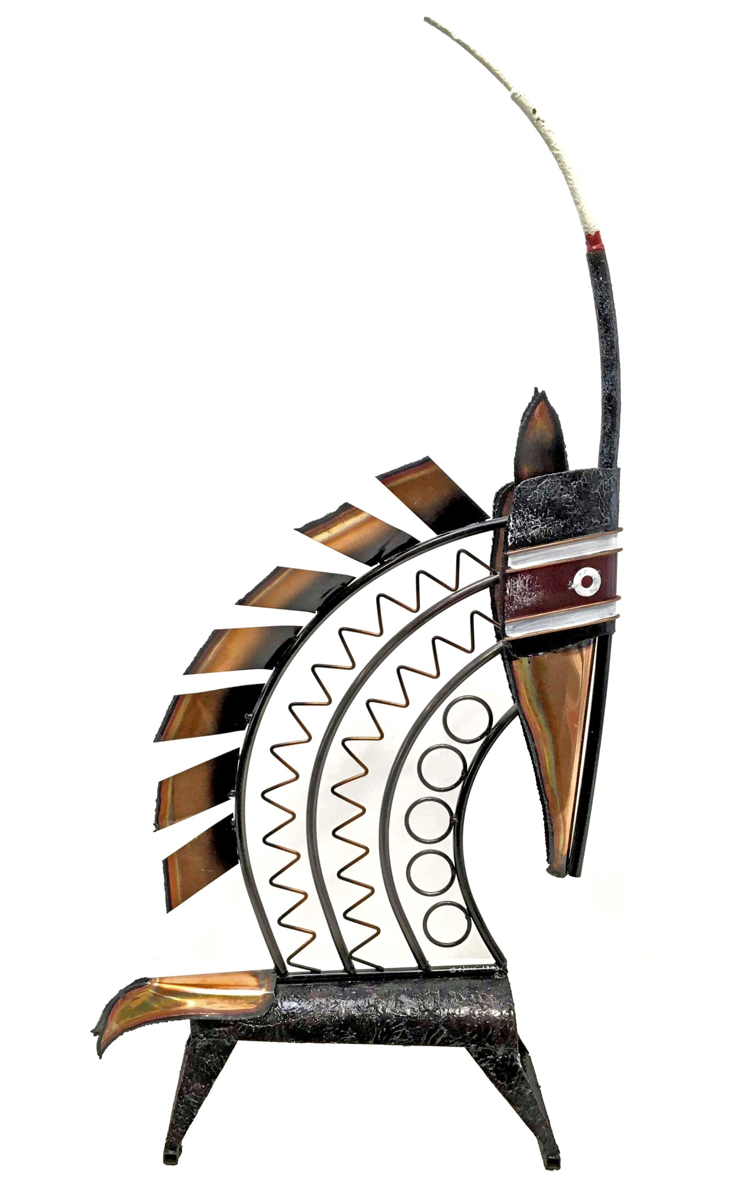 Curtis Jere Mid Century Modern Gazelle Sculpture