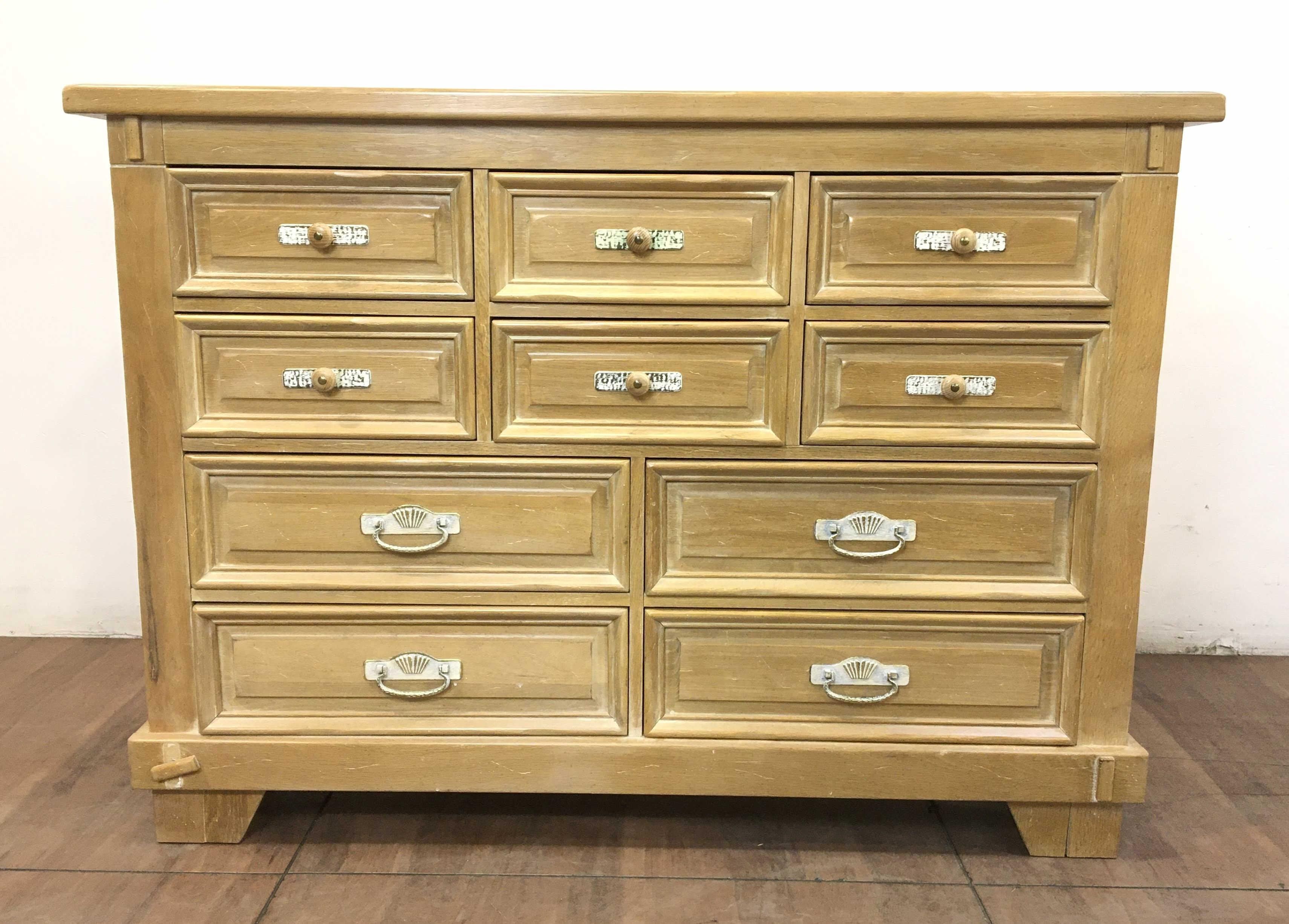 Lexington Link Taylor Taos Collection Oak High Triple Dresser