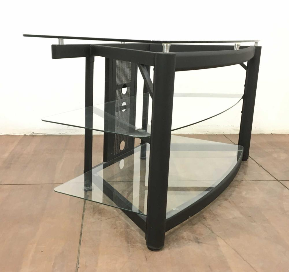 Contemporary Metal & Glass Entertainment Console