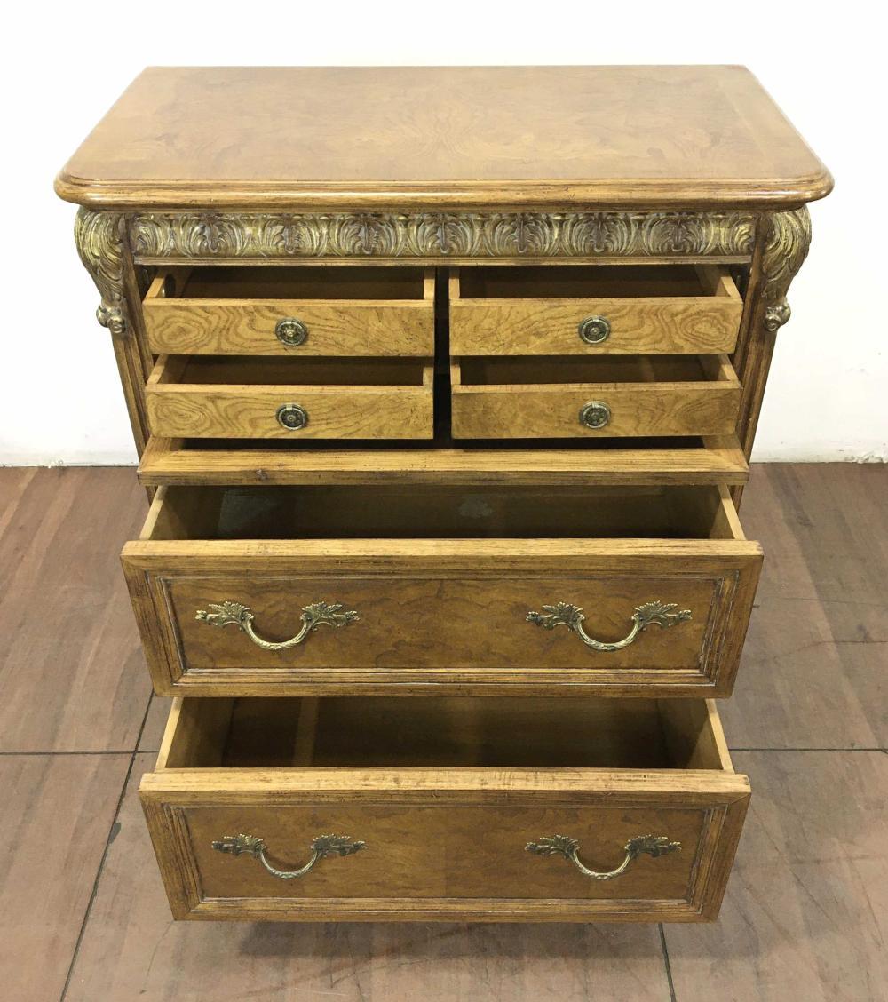 Jeffco Imports French Louis XV Oak & Burl Dresser