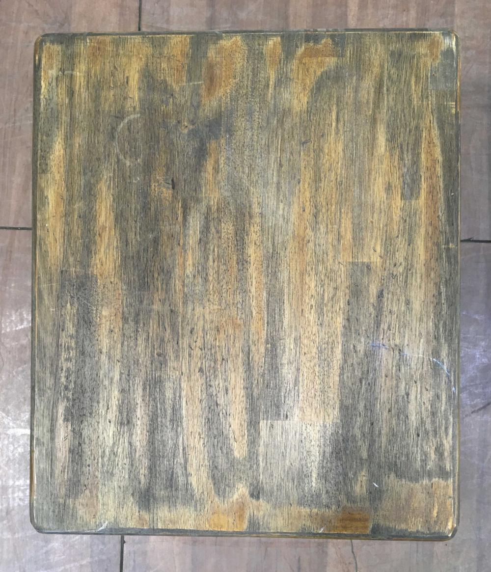 Country Americana Style Plank Top End Tables