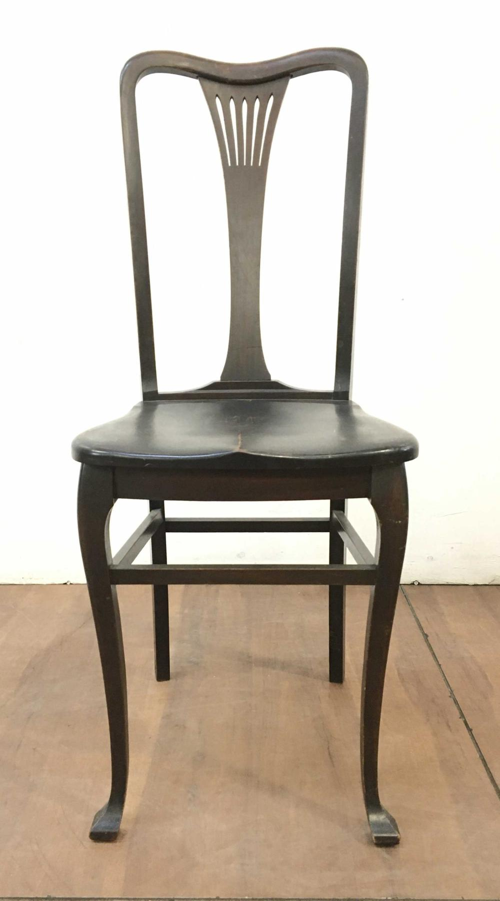 Edwardian Era Ebonized Accent Side Chair