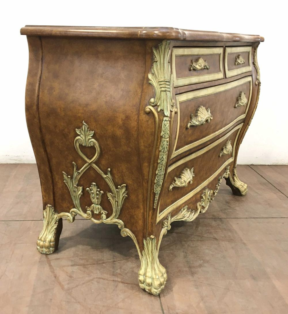 Continental Baroque Style Bombé Commode