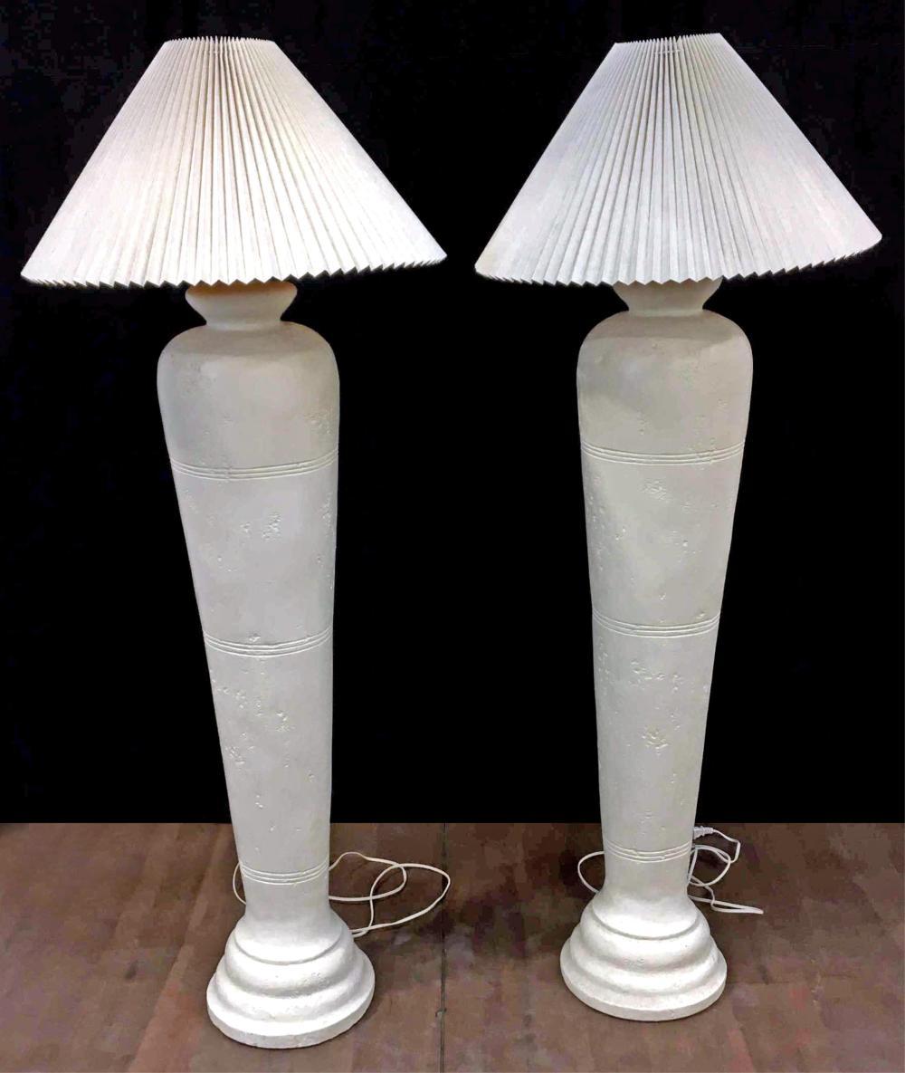 Pair Of Traditional Ceramic Base Floor Lamps