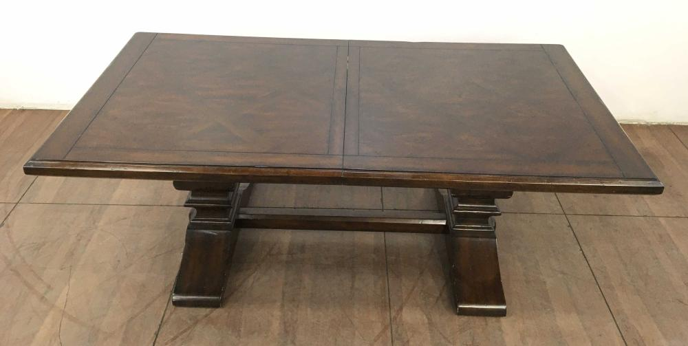 (9pc) 17th C. English Style Trestle Dining Group
