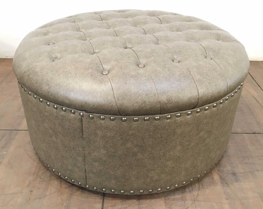 Ashley Furniture Tufted Nailhead Ottoman