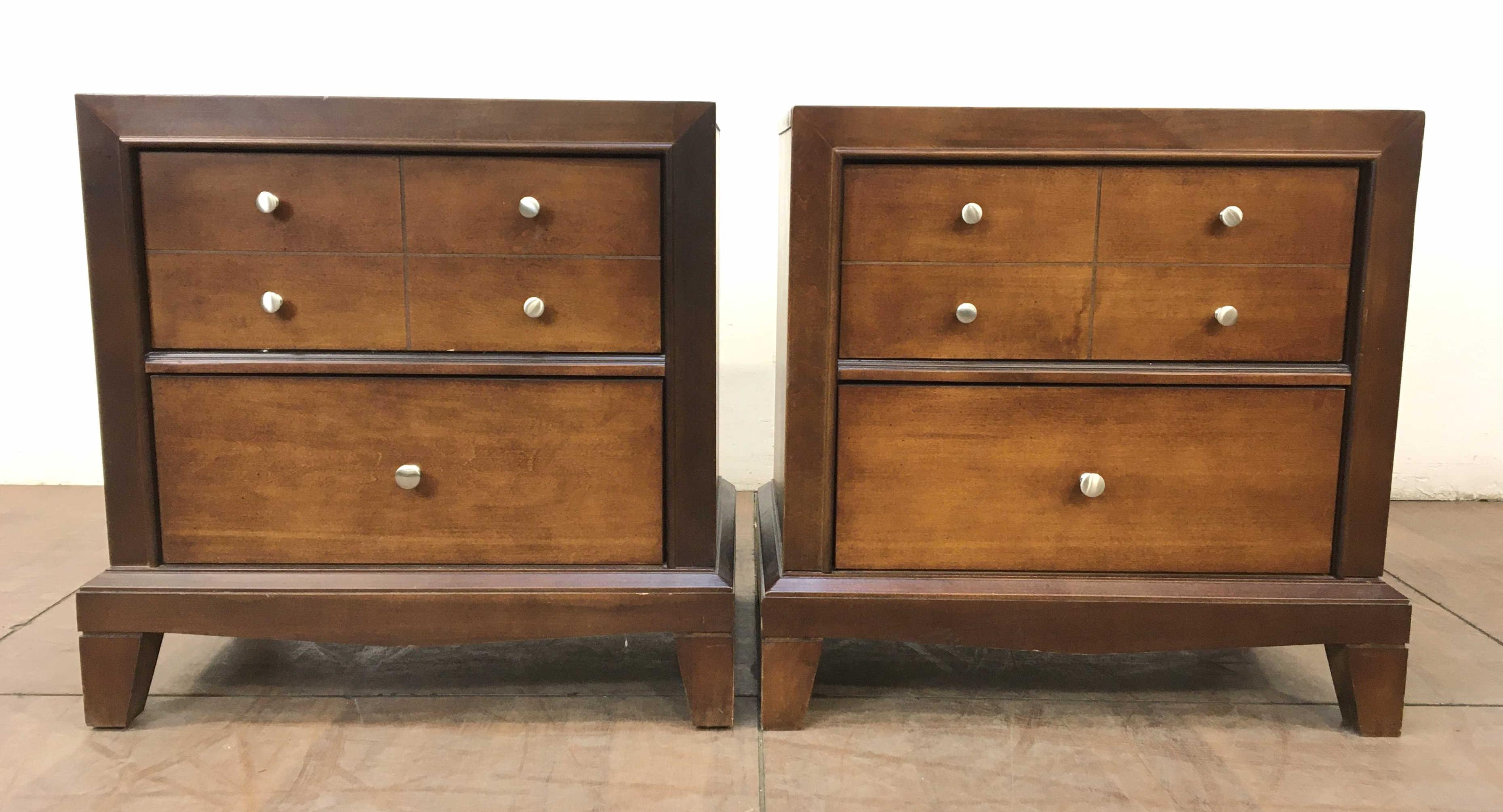 Bassett Furniture Transitional Style Nightstands