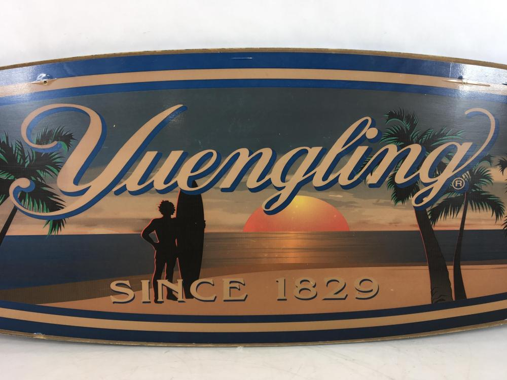 Yuengling Lager Double Sided Wood Advertising Sign