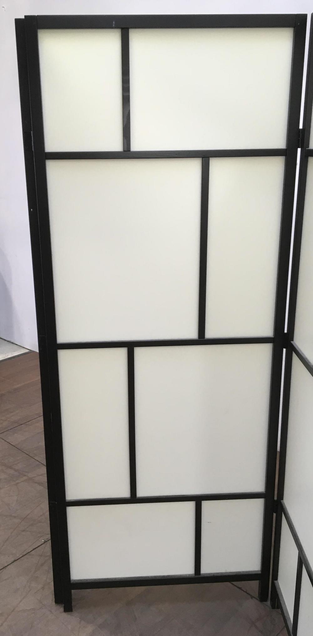 Contemporary 3 Panel Floor Screen