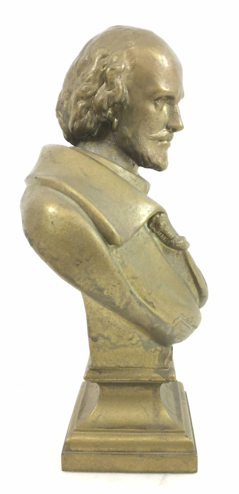 13in Spelter Shakespeare Bust