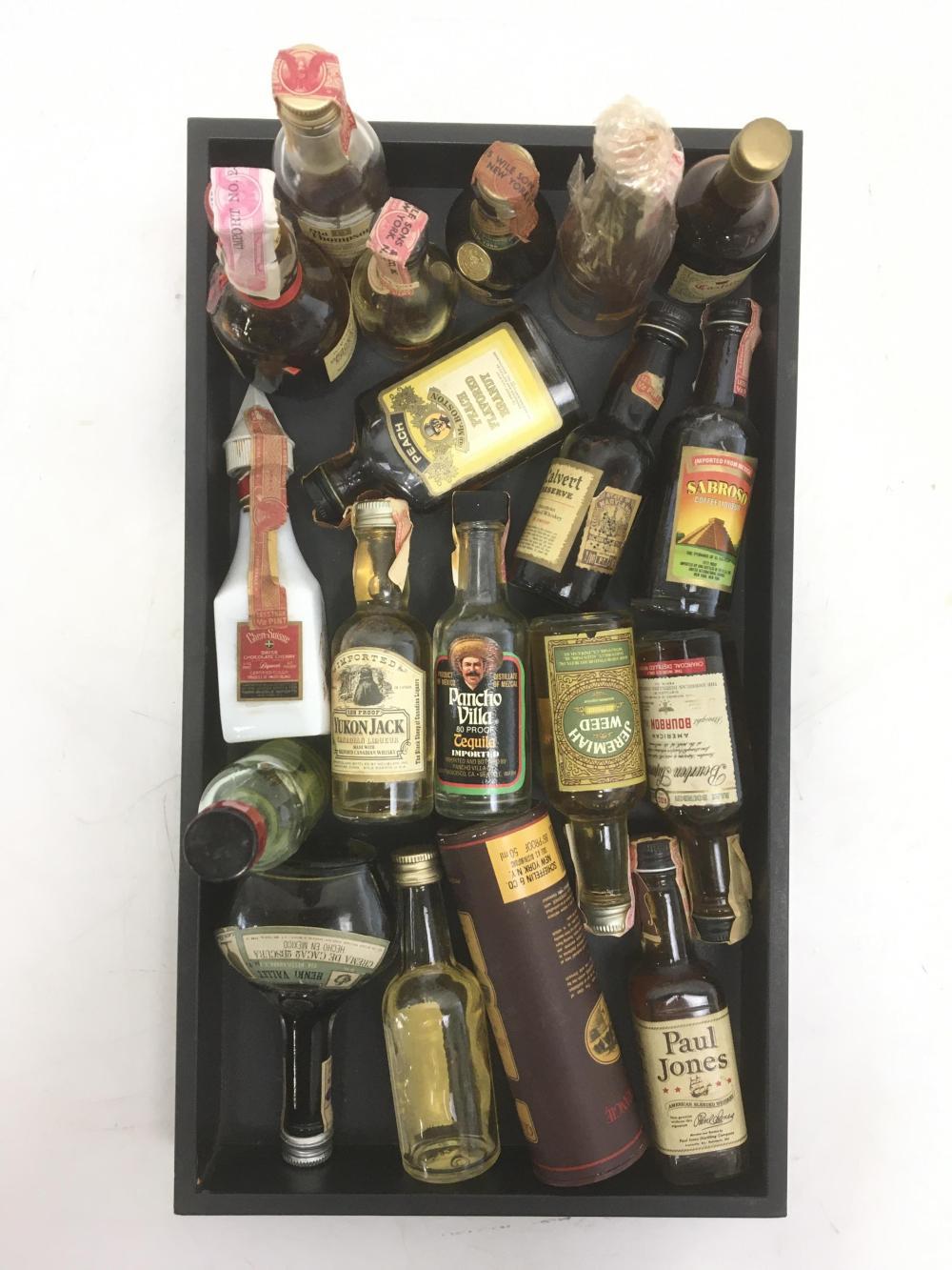 (19pc) Collectable Miniature Liquor Bottles
