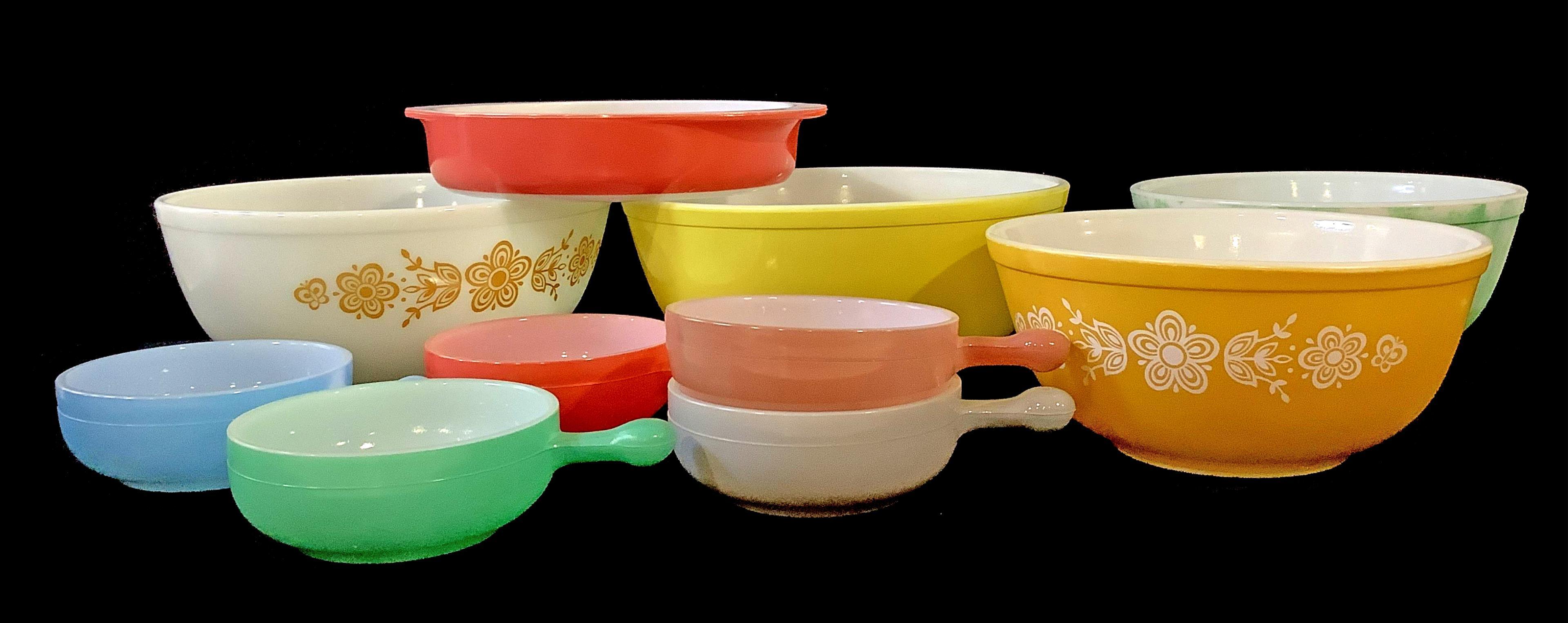 (10pc) Pyrex & Glassbake Bakeware, Soup Bowls