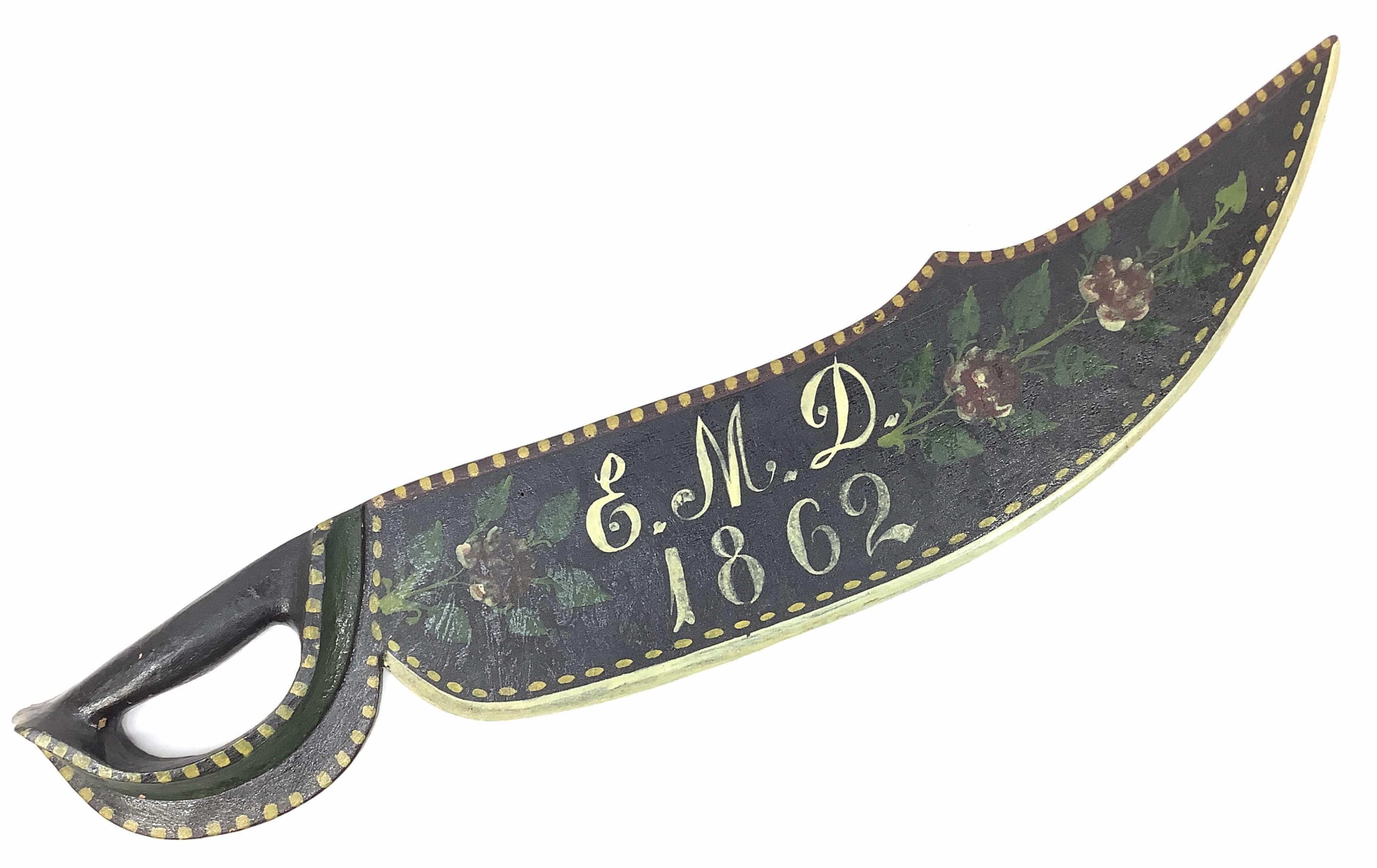 Antique 1862 Scandinavian Flax Knife
