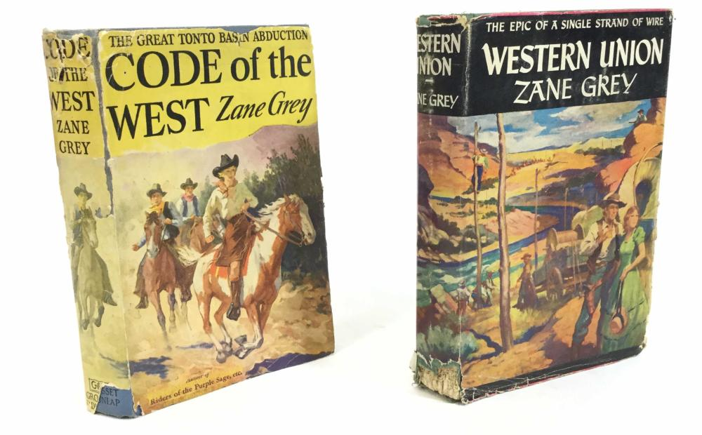 (5) Vintage Zane Grey Grosset & Dunlap 1st Edition Books