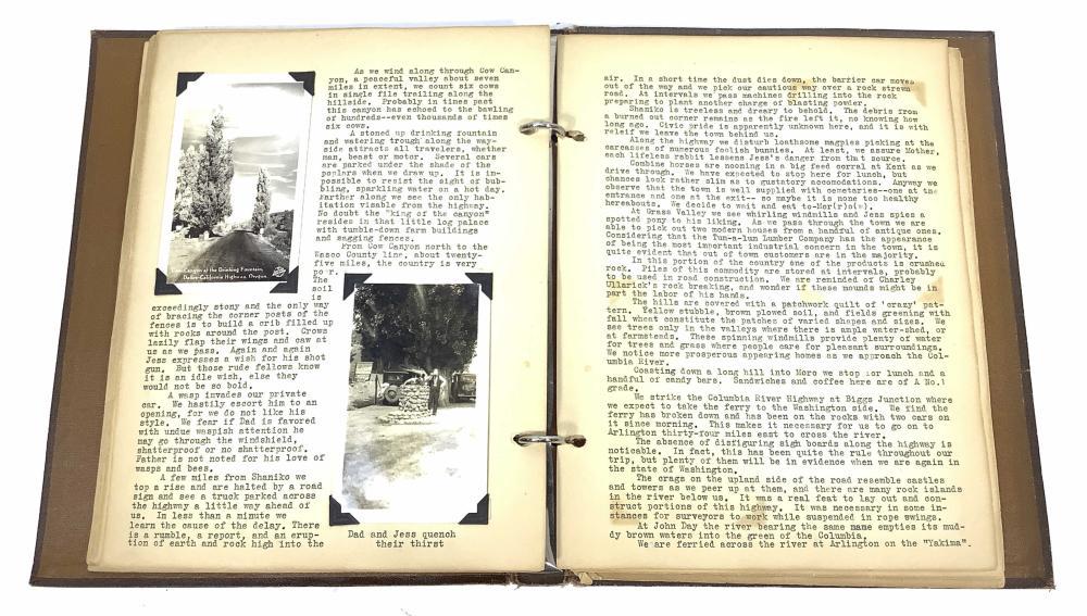 1931 Scrapbook Spokane Washington To California