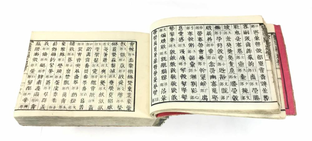 19th C. Japanese Woodblock Print Dictionary