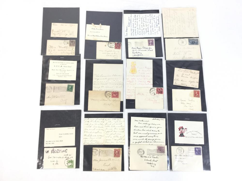 Antique Covers With Cancels, Letters, Card Combos