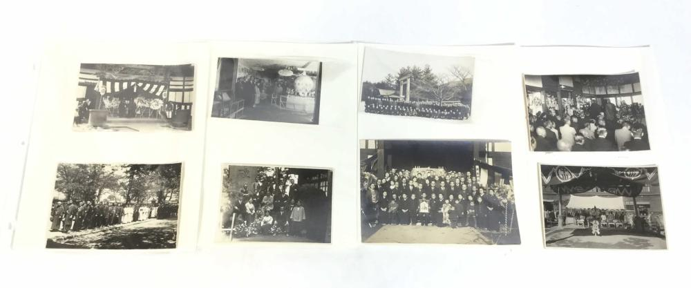 c.1930's Japanese B&w Funeral Photographs