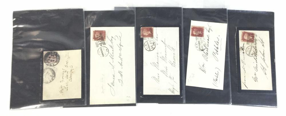 (9) 19th C. Scotland Victoria Covers With Cancels