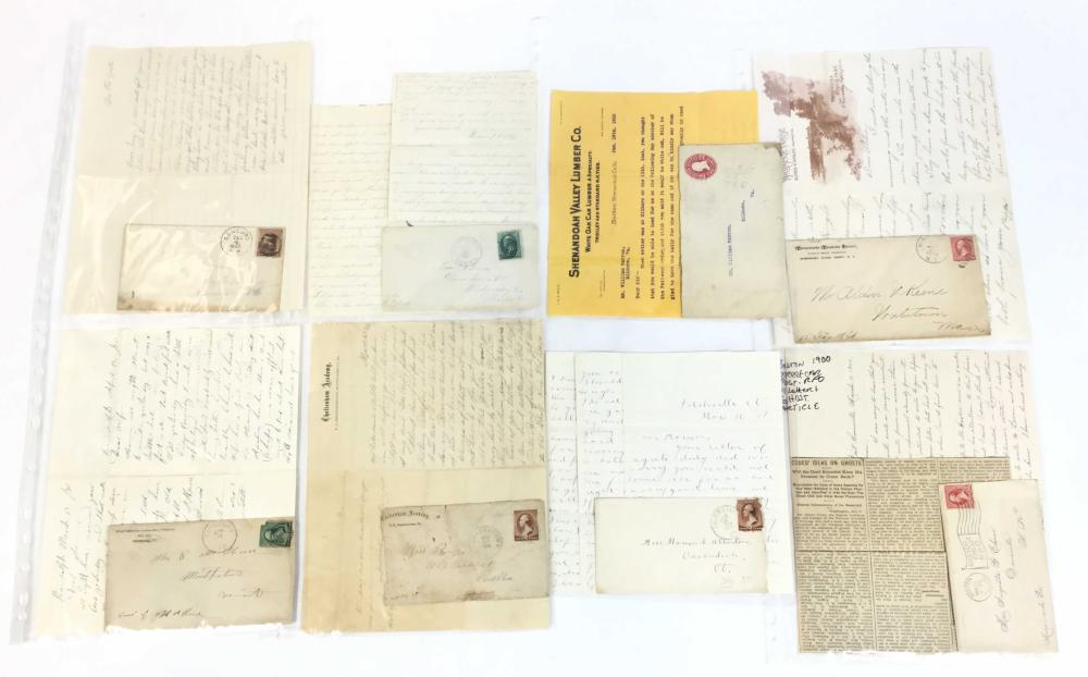(25) 19th C. Stampless Letters & Cover Combos