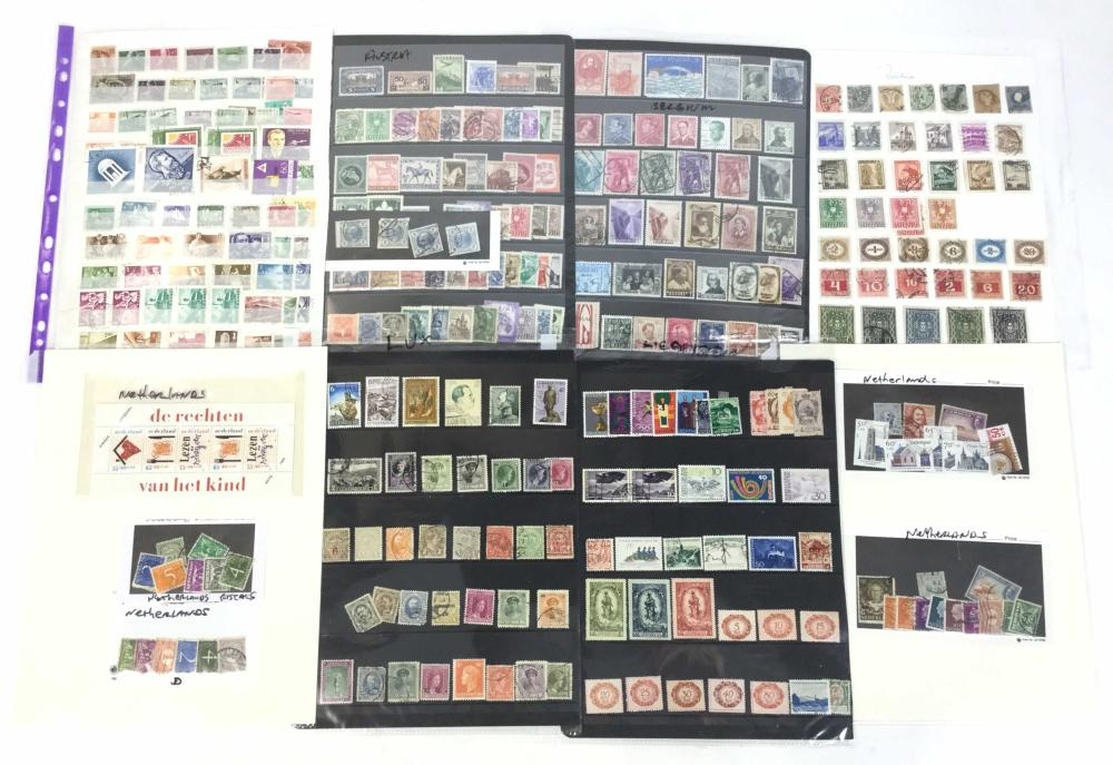 Large Collection Of Stamps From European Countries