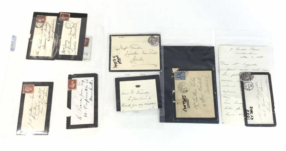 19th C. Queen Victoria Issue & Cover Combos