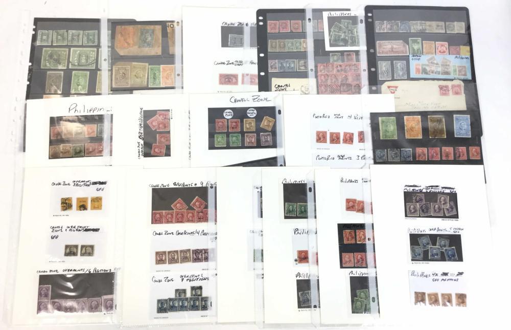 Stamps, U.S. Possessions, Canal Zone, Porto Rico