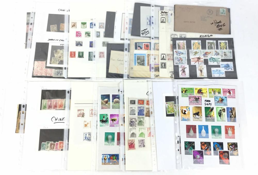 Vintage Japanese, Chinese, Korean Stamps & Covers