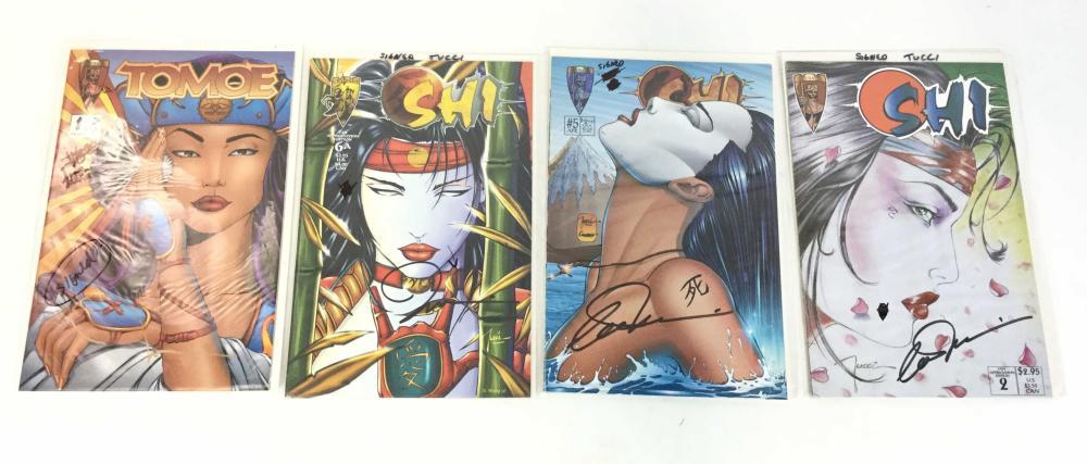 Silvestri & Tucci Signed Shi Crusade Comics