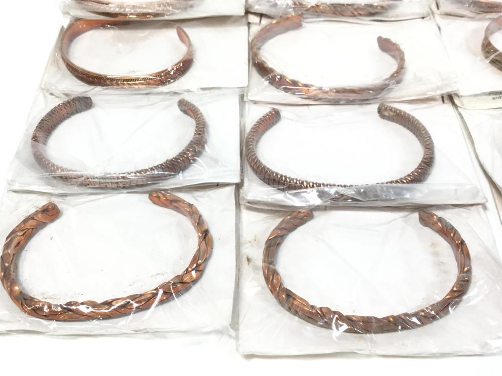 (40) Copper Cuff Bracelets