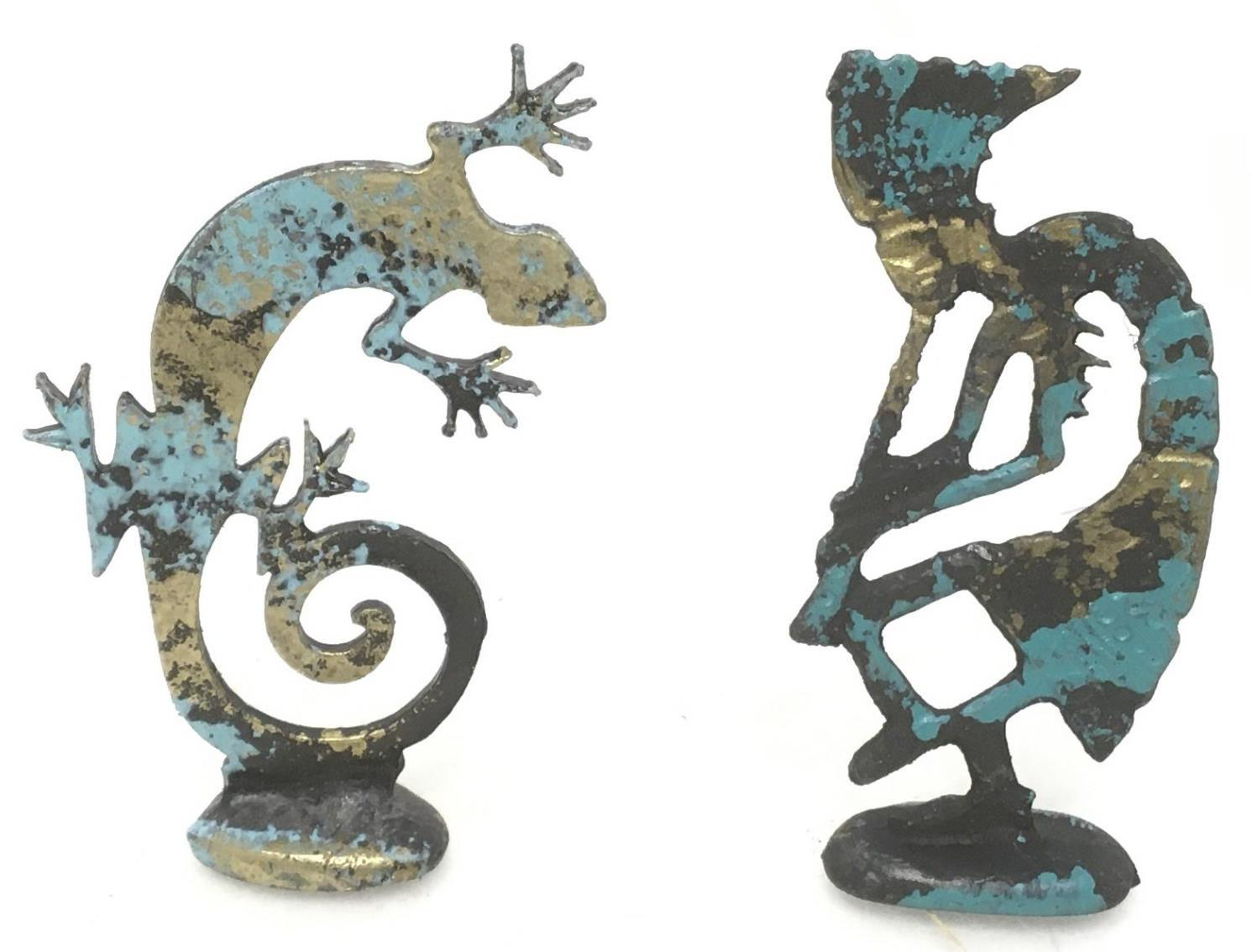 (60+) Southwestern Brass Painted Figures
