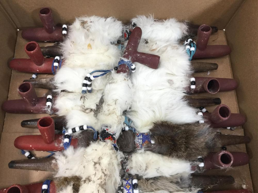 (12) Native American Style Peace Pipe