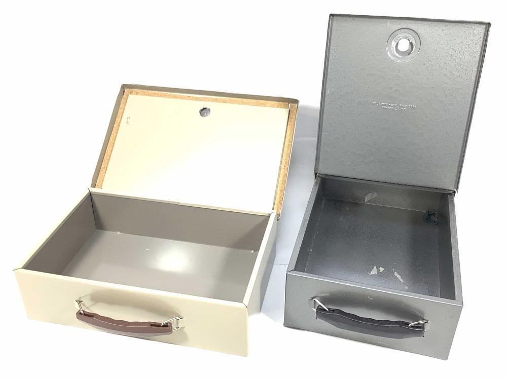 (2) Metal Lock Boxes