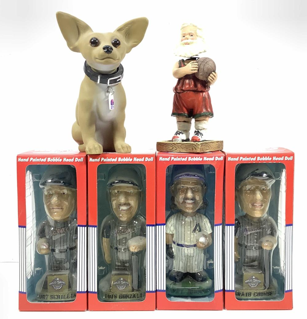 (6pc) Bobble Heads, Sports Collectible Series